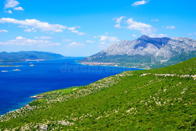 Peljesac半岛风景 免版税图库摄影