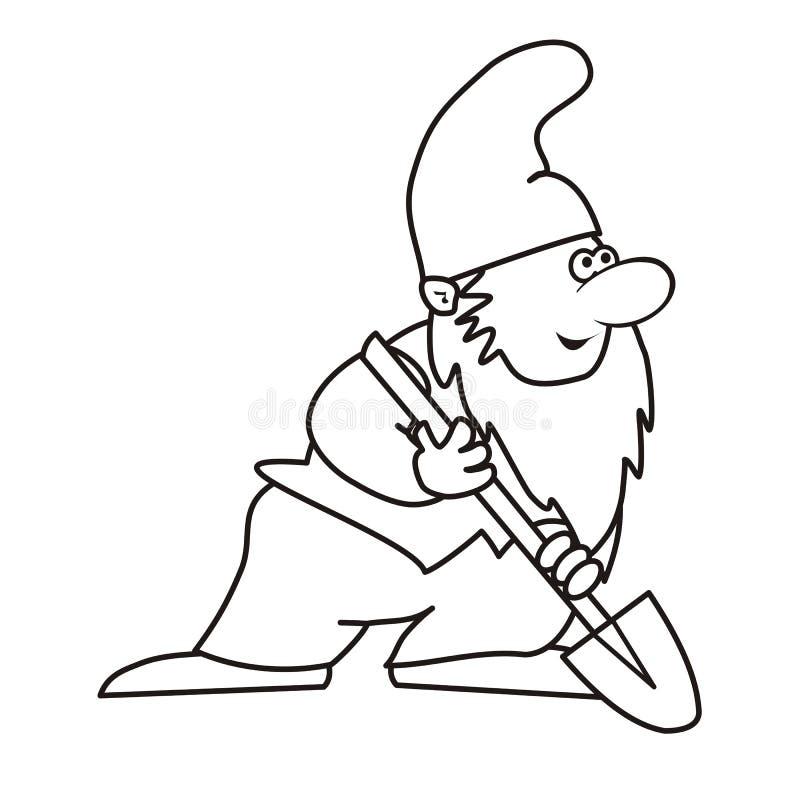 Pelle d'Elf NAD - livre de coloriage illustration stock