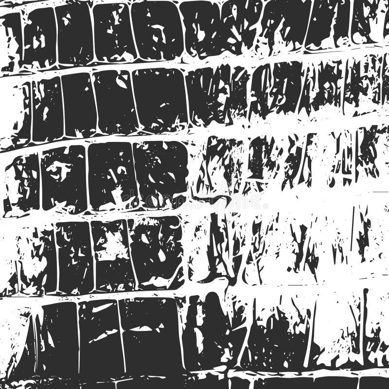 Pelle di coccodrillo, il nero astratto di struttura su bianco illustrazione vettoriale