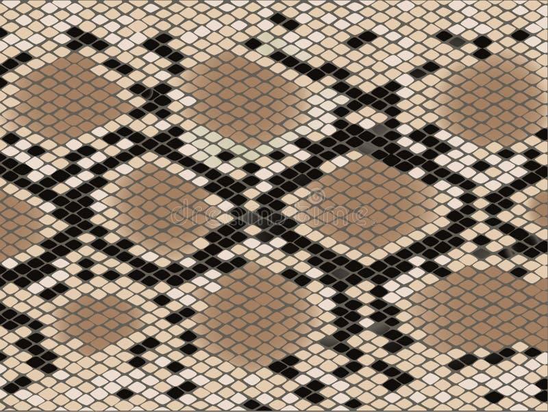 Pelle di serpente del reticolo della losanga illustrazione di stock