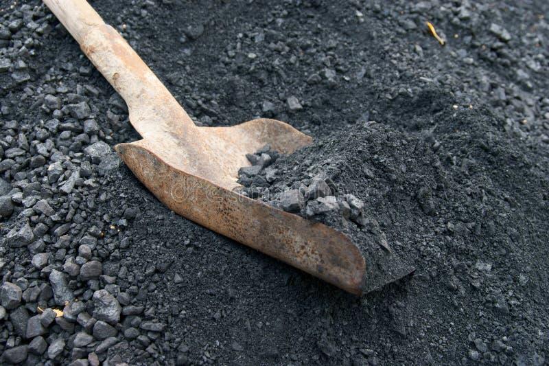 Pelle et charbon photographie stock libre de droits