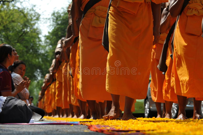 Pellegrinaggio buddista fotografia stock libera da diritti
