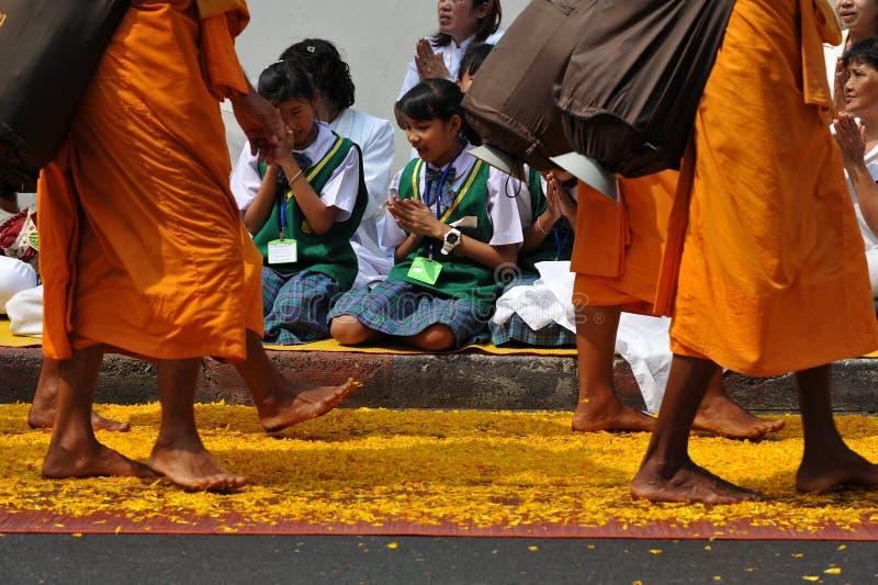Pellegrinaggio buddista immagine stock