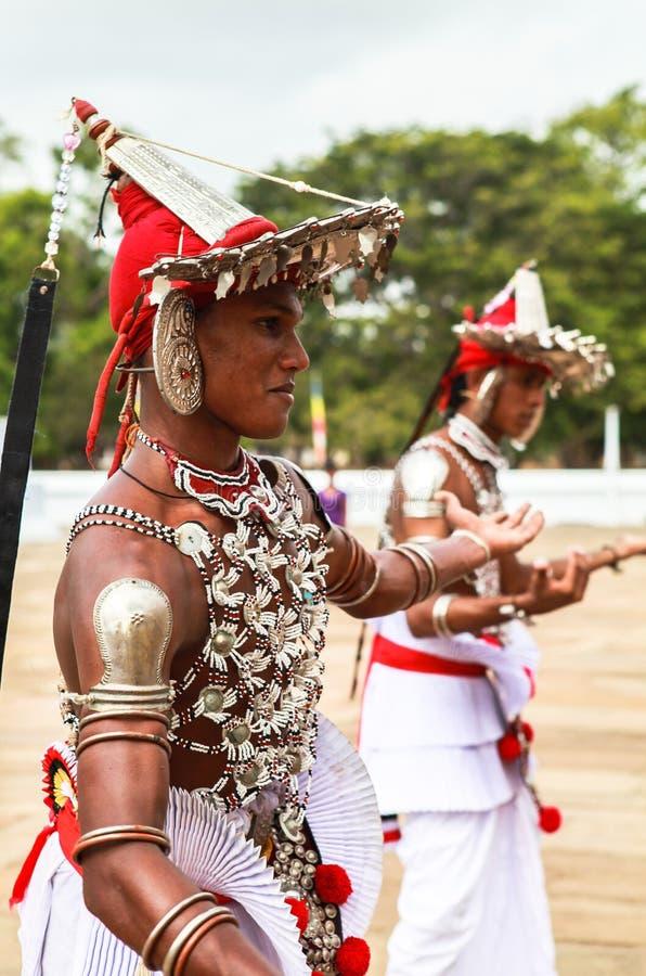 Pellegrini in Anuradhapura, Sri Lanka fotografia stock