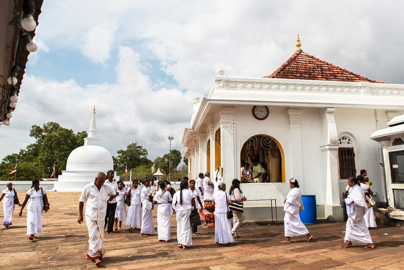 Pellegrini in Anuradhapura, Sri Lanka immagine stock libera da diritti