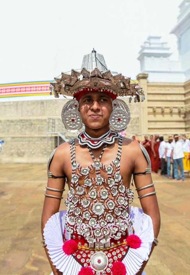 Pellegrini in Anuradhapura, Sri Lanka fotografie stock libere da diritti