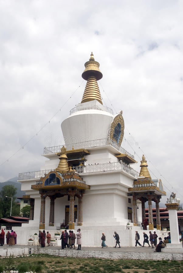 Pellegrini buddisti, Thimphu, Bhutan fotografie stock libere da diritti
