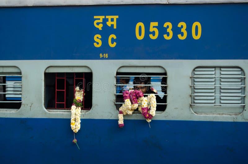 Pellegrino Sul Treno, India Immagine Editoriale