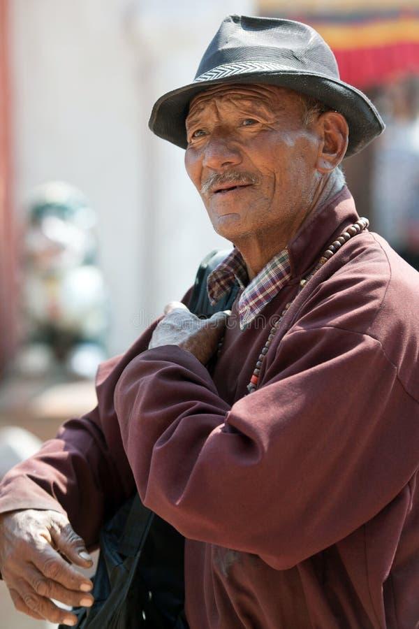 Pellegrino tibetano, Nepal immagini stock
