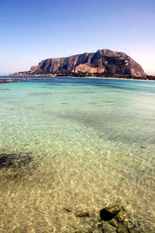 Pellegrino zet zeegezicht, Palermo op royalty-vrije stock fotografie