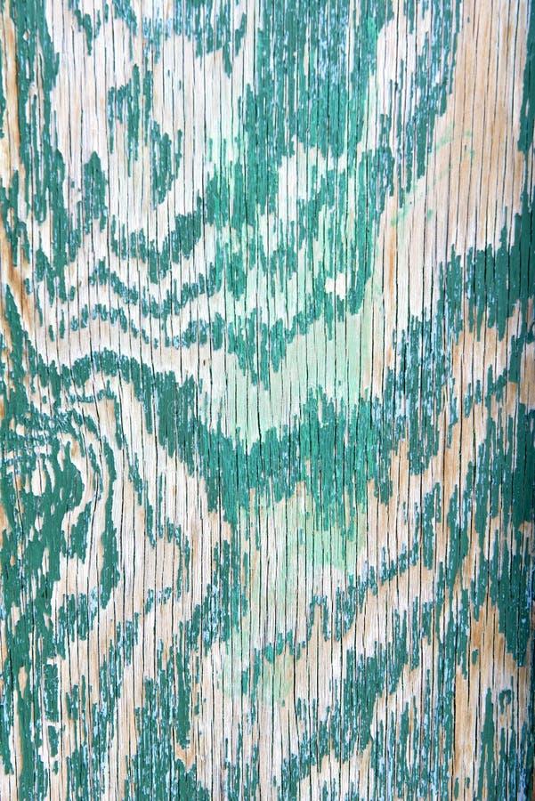 Pellend turkoois hout stock foto