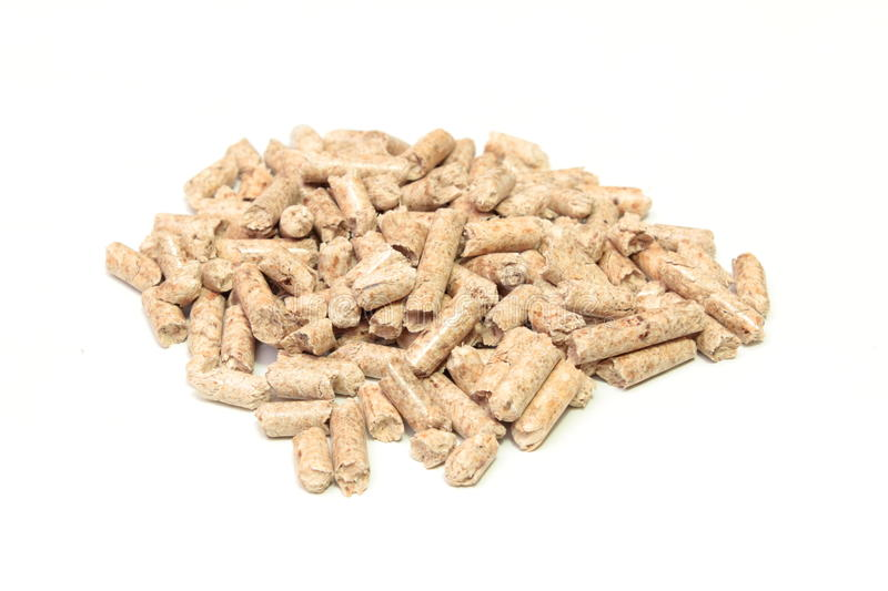 Pellet. A Group of wooden pellet royalty free stock image