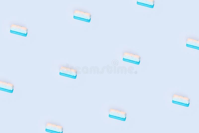 Pellet oder Dragee, kissenförmig, Kaugummi stockbild