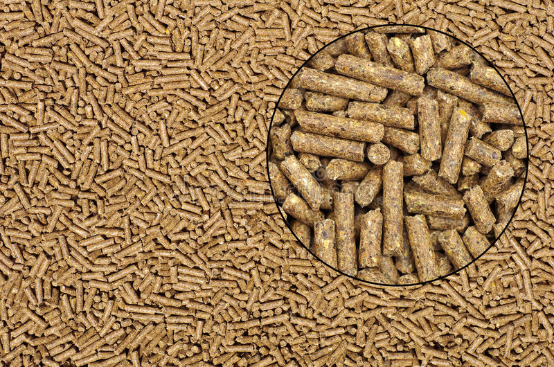 Pellets background stock photography