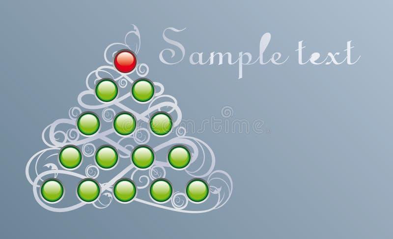 Pelliccia-albero di Techno illustrazione di stock