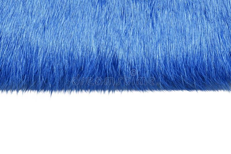 Pelliccia blu immagine stock