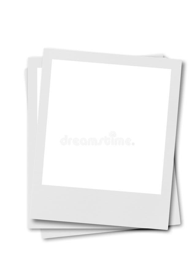 Pellicola Del Polaroid Con Priorità Bassa Bianca Fotografia Stock Libera da Diritti