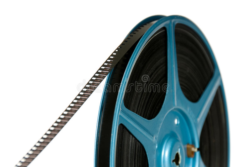 pellicola di 8mm sulla bobina immagini stock