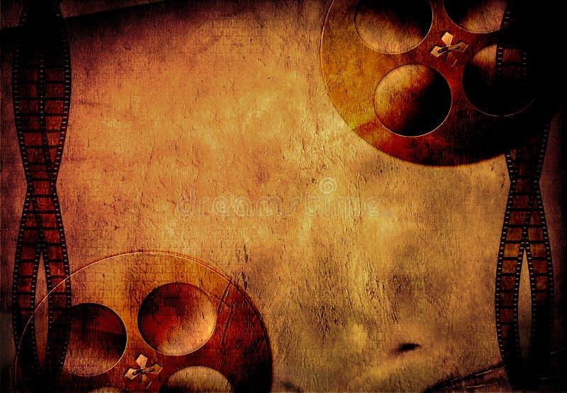 Pellicola e bobine di Grunge illustrazione vettoriale