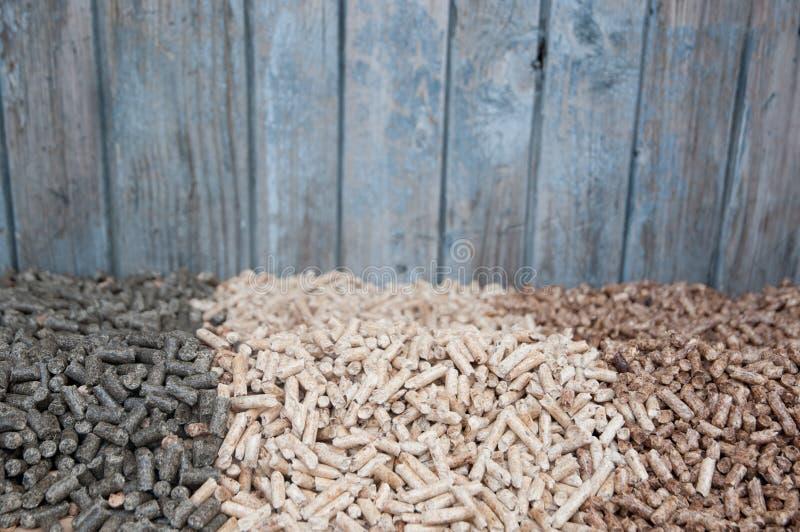 Pelllets- Biomass Fotografia Stock