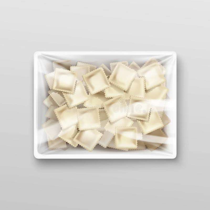 Pelmeni Meat Dumplings Ravioli Packaging stock illustration