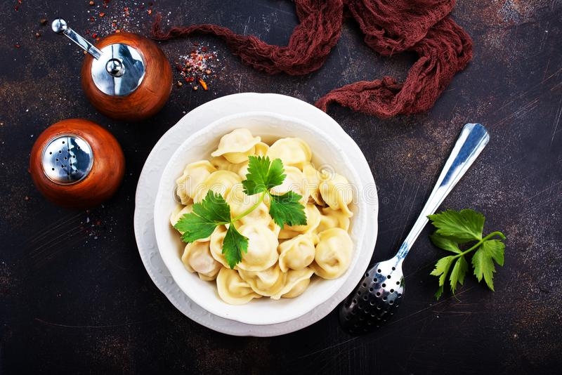 Download Pelmeny stock image. Image of food, plate, napkin, pelmeni - 104907975