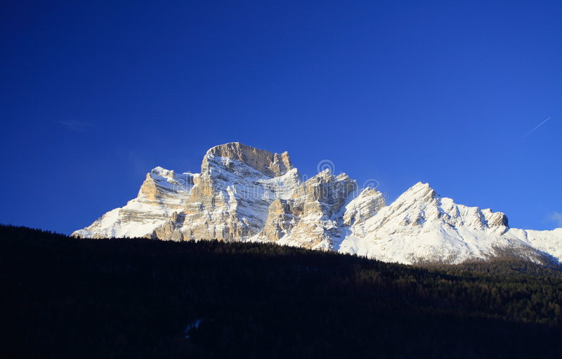 Pelmo Mount Dolomite stock images