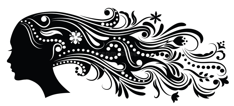 Pelo abstracto. libre illustration