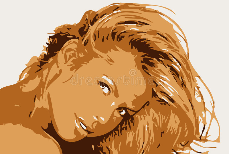 Pelo de las señoras stock de ilustración