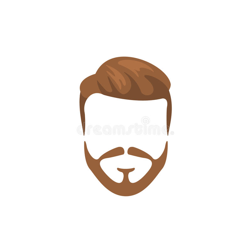 Pelo masculino del inconformista y estilo facial con la barba llena libre illustration