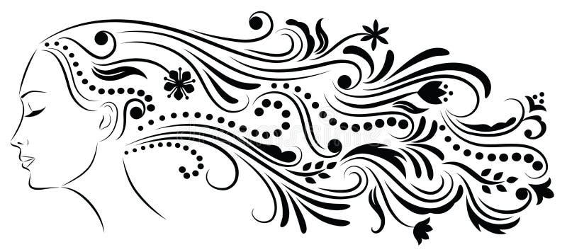 Pelo modelado. ilustración del vector