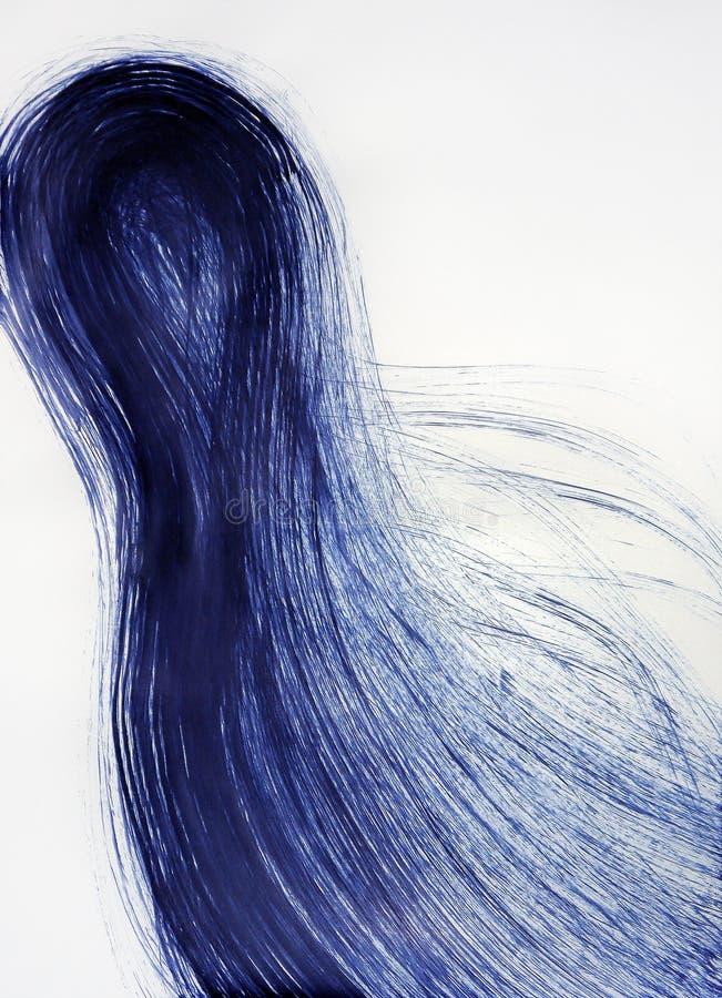 Pelo que se convierte humano Energía de la cola del movimiento del cometa foto de archivo