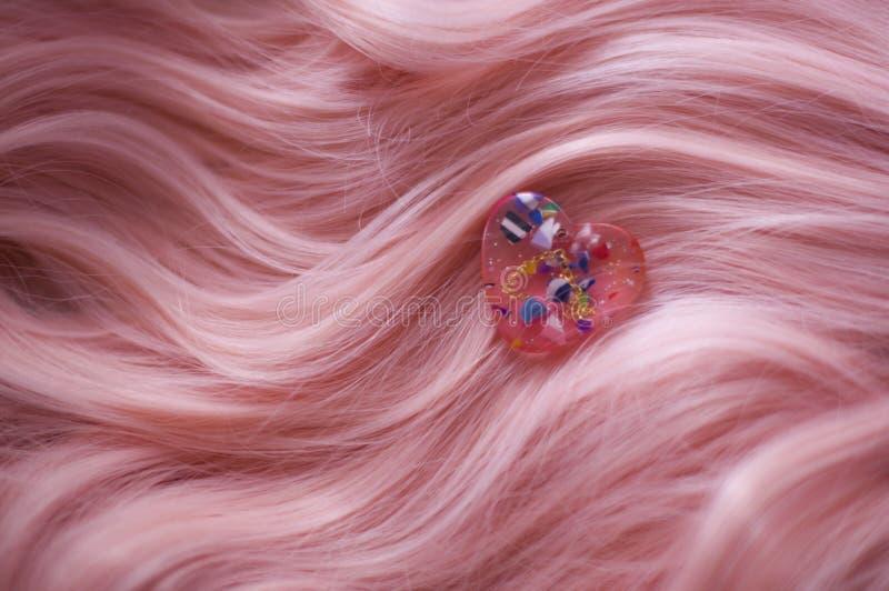 Pelo rosado imagen de archivo