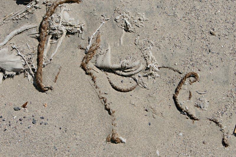 Pelo trenzado en la arena foto de archivo libre de regalías