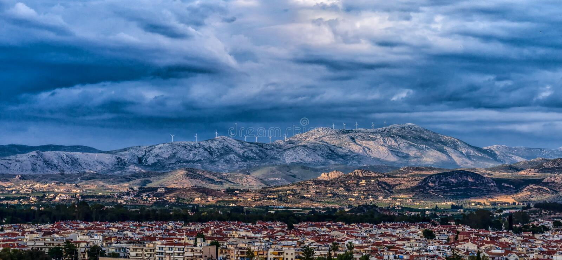 Peloponnes-Sturm lizenzfreies stockbild