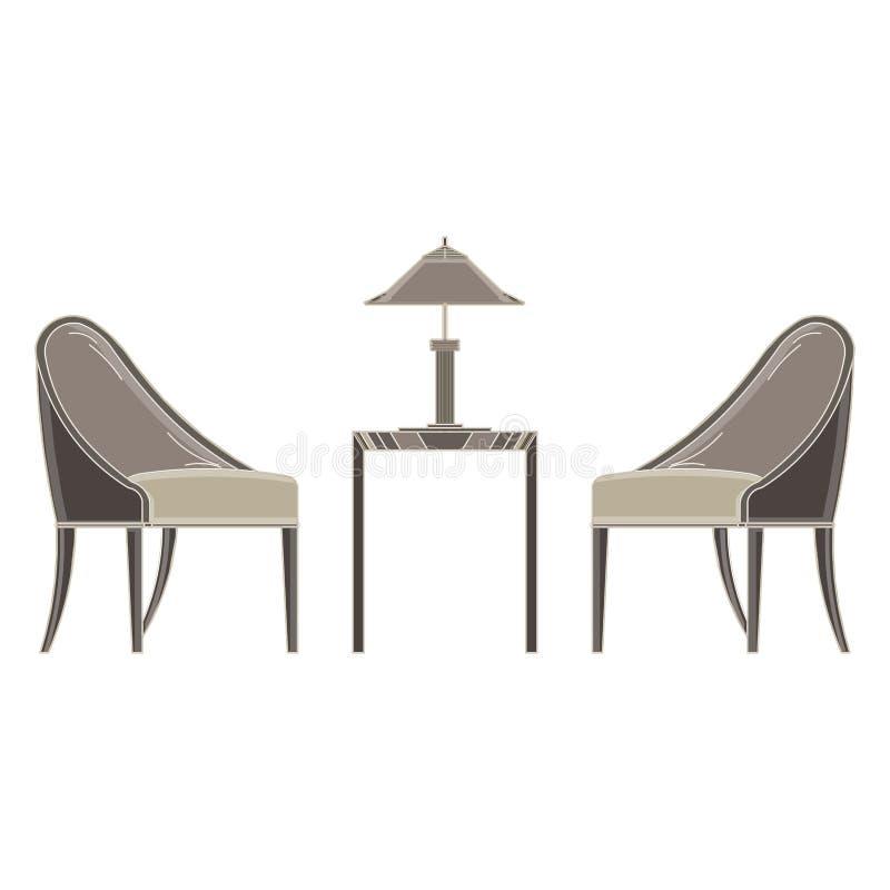 Pelos del ¡de Ð con el plano monocromático de la tabla en tema gris del color ilustración del vector