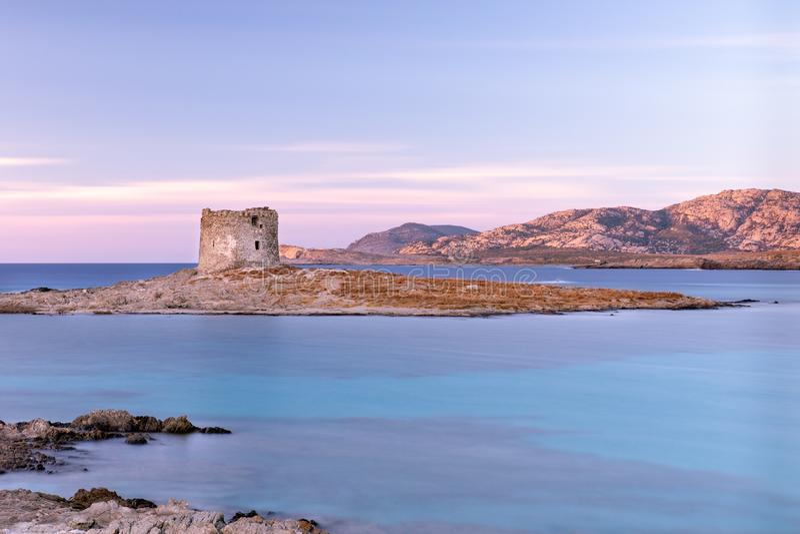 Pelosa wierza, Stintino, Sardinia Włochy obraz stock