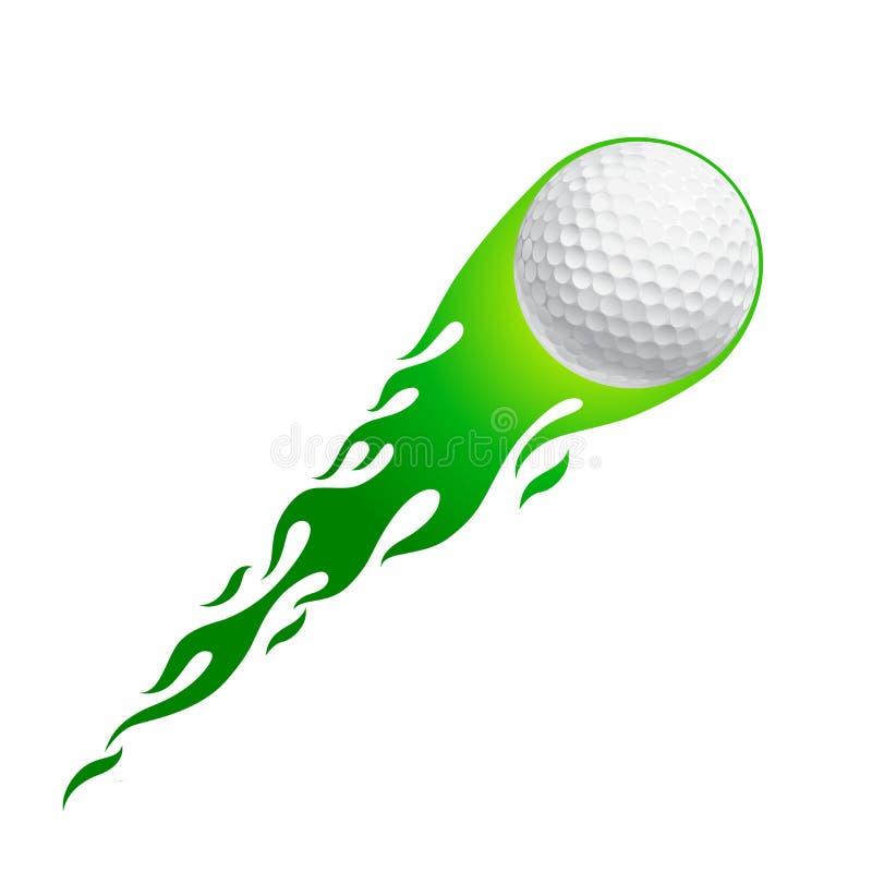Pelota de golf caliente ilustración del vector