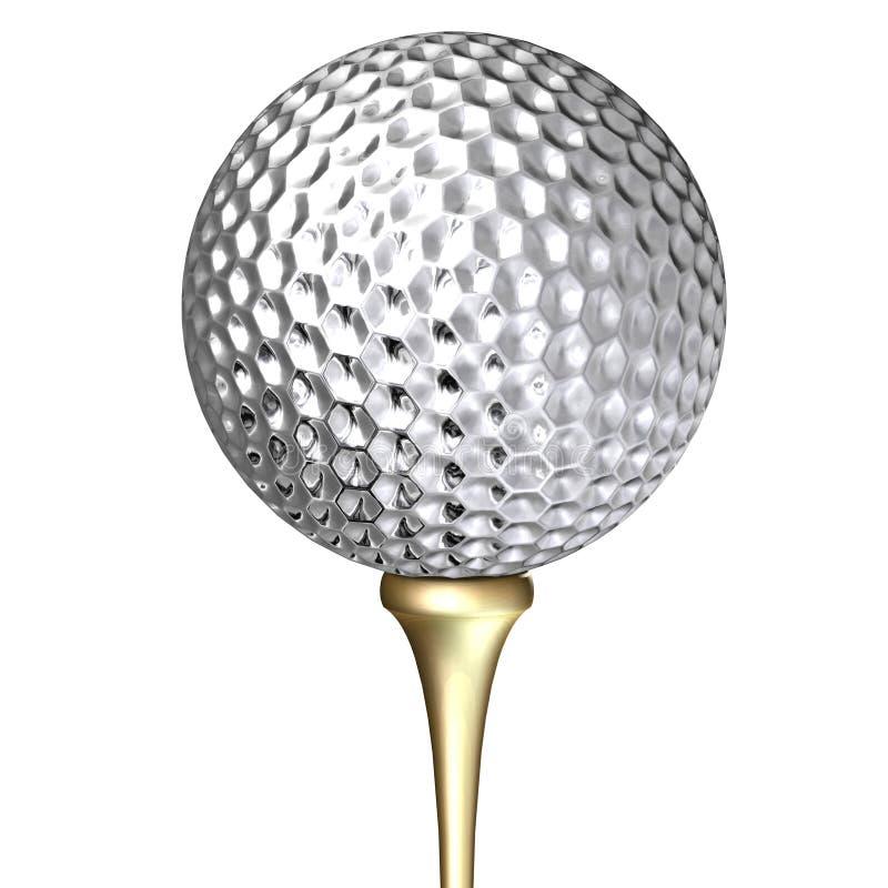 Pelota de golf del metal libre illustration