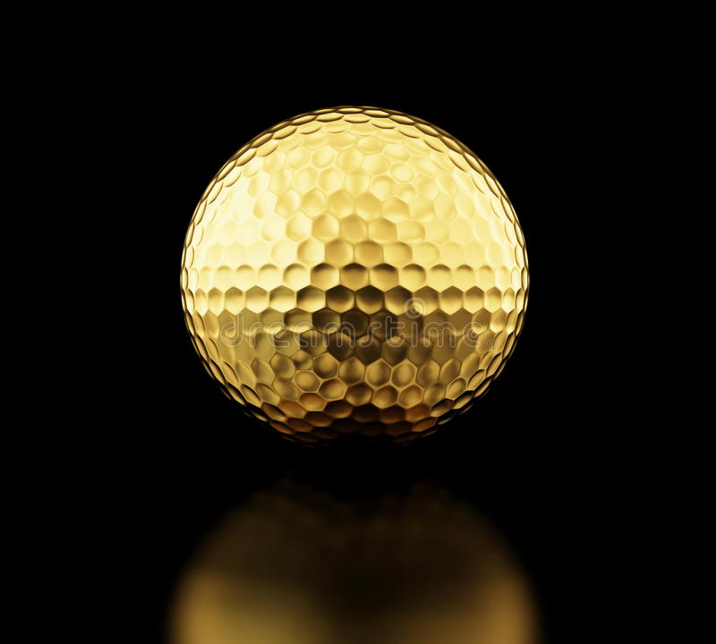 Pelota de golf del oro libre illustration