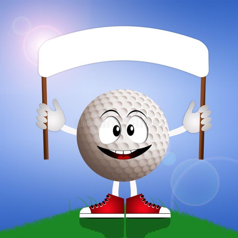 Pelota de golf divertida ilustración del vector