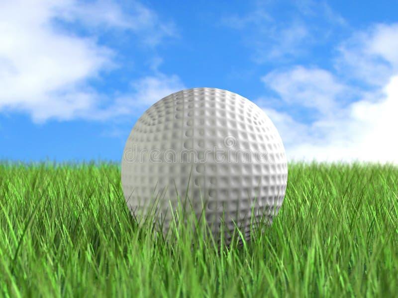 Pelota de golf en campo imagenes de archivo