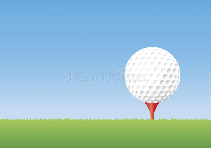 Pelota de golf en te libre illustration