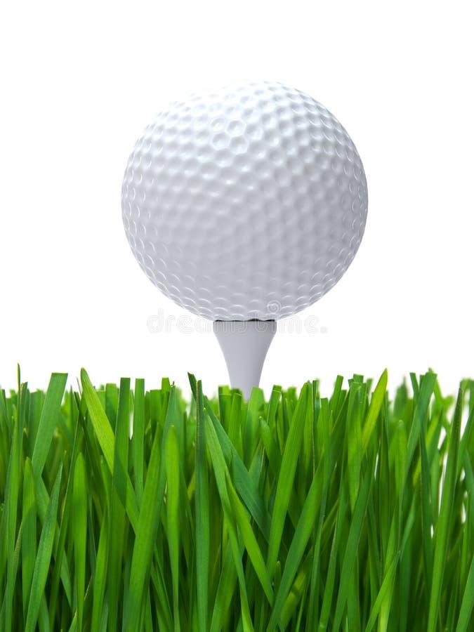 Pelota de golf en te libre illustration