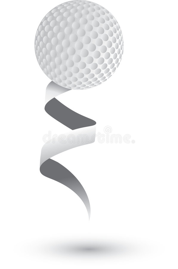 Pelota de golf en una cinta libre illustration