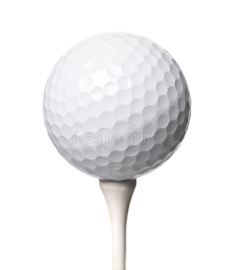 Pelota de golf isloated fotos de archivo