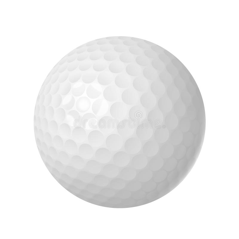 Pelota de golf sobre blanco libre illustration