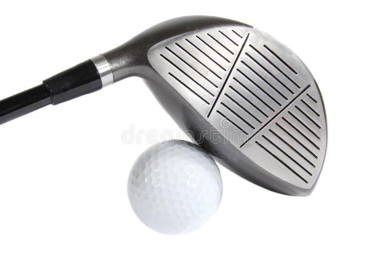 Pelota de golf y programa piloto imagen de archivo libre de regalías