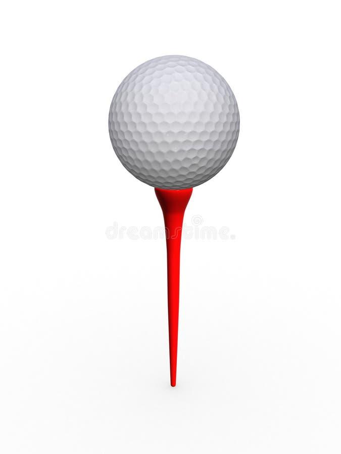 Pelota De Golf Y Te Imagen de archivo