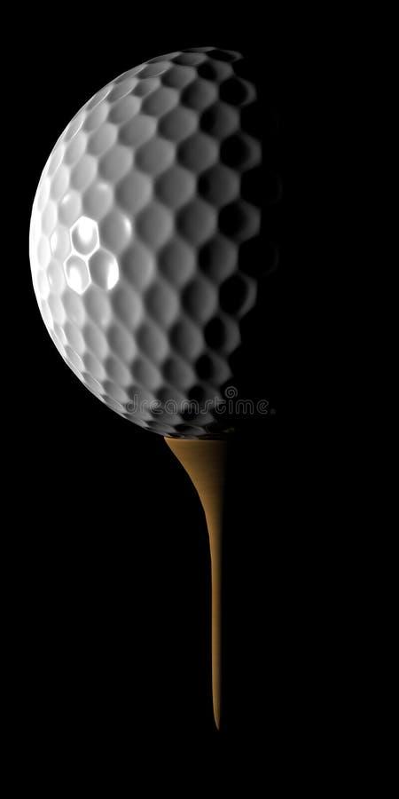 Pelota de golf y te ilustración del vector